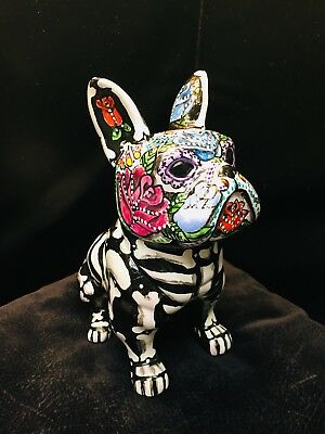 Hand painted Day Of The Dead French Bulldog Frenchie Sugar Skull New Boston Ter