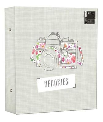 "Large Photo Album Ringbinder Camera Memories Design Holds 500 6"" x 4"" Photos"