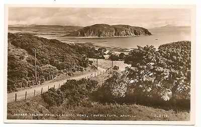 Old Postcard-DAVAAR ISLAND From LEARSIDE ROAD, CAMPBELTOWN-Argyll-Scotand.