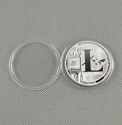 Silver Plated Commemorative Litecoin Collectible Golden Iron Miner Coin Gift FJH