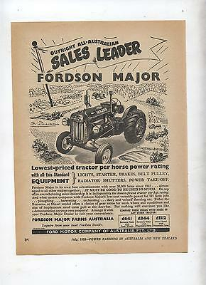 Fordson Major Tractor Advertisement removed from 1952 Farming Magazine