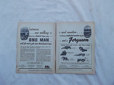 Massey Ferguson Tractor System Advertisement from 1953 Farming Magazine