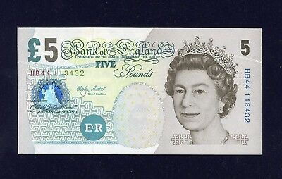 Bank of England Paper Five Pound Note, Merlyn Lowther 1999-2003.