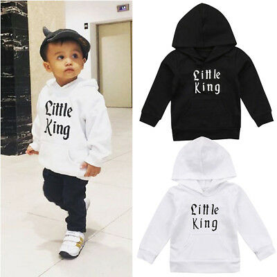 New Kids Baby Boy Cotton Hoodie Top Sweatshirt Outerwear Casual Outfits Clothes