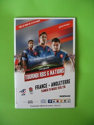 France v England RBS Six Nations 2016 Rugby Programme