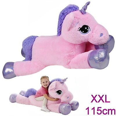 xxl einhorn 115 cm stofftier kuscheltier unicorn bibi pink. Black Bedroom Furniture Sets. Home Design Ideas