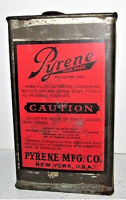 Early ca 1912 Pyrene Fire Extinguisher Refill Tin (Empty)