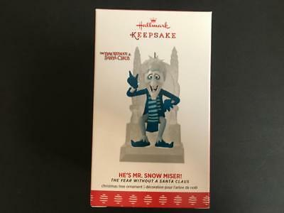 NEW 2017 Hallmark HE'S MR SNOW MISER Ornament Year Without A Santa Claus mizer