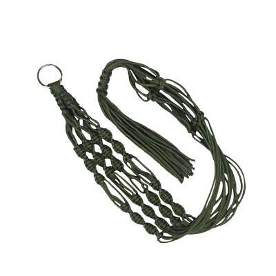 Plant Pot Hanger Macrame Jute Rope for In/Outdoor Ceiling Holder Army Green