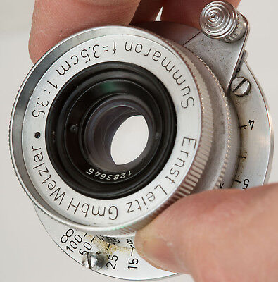 Leitz Leica Summaron 35mm f/3.5 SM lens 39mm Screw Mount Excellent No. 1283645
