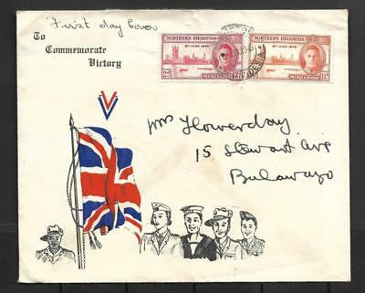 N.rhodesia, 1946 Victory Issue On Illustrated Fdc.