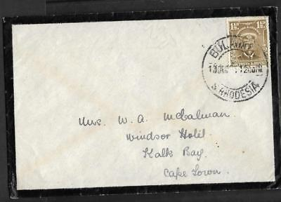 S.RHODESIA, KGV ADMIRAL, 1 1/2d MORNING COVER TO S.A. DATED DEC 1924.