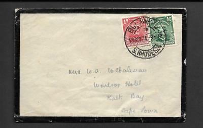 S.RHODESIA, KGV ADMIRAL, 1d & 1/2d MORNING COVER TO S.A. DATED NOV 1924.