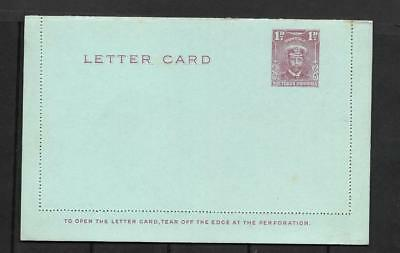 S.RHODESIA, KGV ADMIRAL,  1d LETTER CARD, POSTAL STATIONARY, MINT.