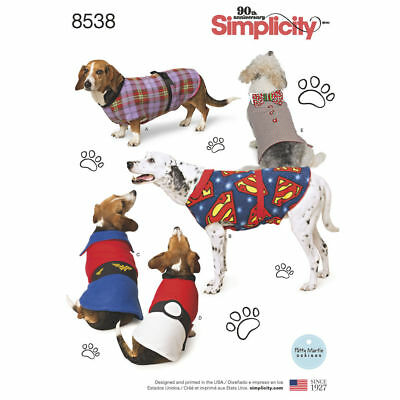 SIMPLICITY SEWING PATTERN Dog Coats In 3 Sizes 1239 - £5.95 ...
