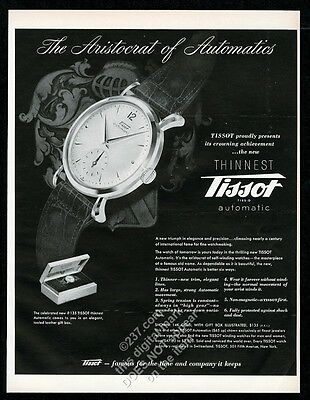 1949 Tissot automatic watch photo vintage print ad