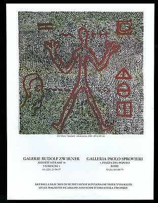 1983 A.R. Penck 'Standard' painting Cologne  NYC art gallery vintage print ad