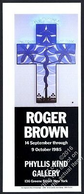 1985 Roger Brown cross snake Tree of Knowledge NYC gallery show vintage print ad
