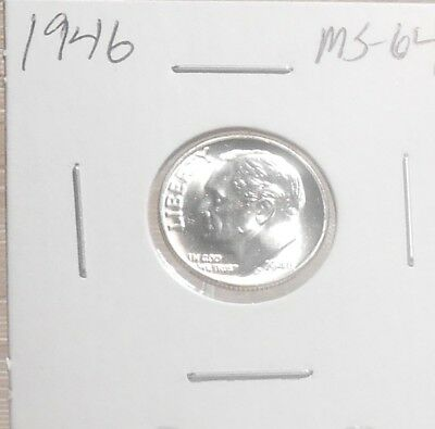 1946 P Roosevelt Dime Gem BU ....................Priced to Sell..... Lot 382