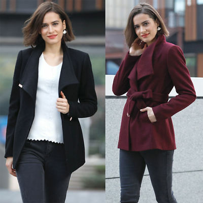 9a09b872b24b7 NEW TED BAKER KEYLA Short Wrap Cashmere Blend Coat Black Maroon ...