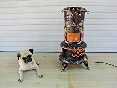 Antique 1913 Perfection #630 Oil Heater Kerosene Stove Converted to Lamp
