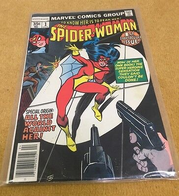 Marvel Spider Woman First Edition 1St Issue Comic All World Against Her Vgc