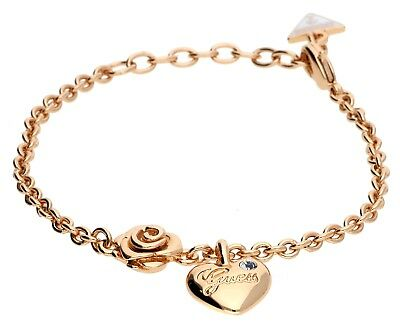 Guess Damen Armband Metall Rosegold Hearts and Roses UBB21515-S