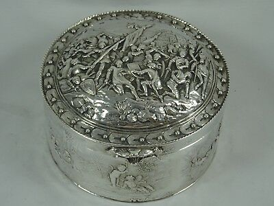 STUNNING, VICTORIAN silver DRESSING TABLE BOX, 1896, 288gm