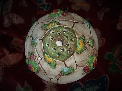 Vintage Falcon Ware Posy Bowl Wishing Well Hand Painted Detailed Stones Design