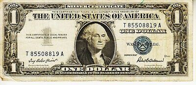Series 1957       One Dollar Silver Certificate==Good Condition
