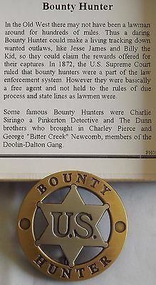 Bounty Hunter US Gold & Silver Plated Badge Authorized Replica - Made USA  PH091