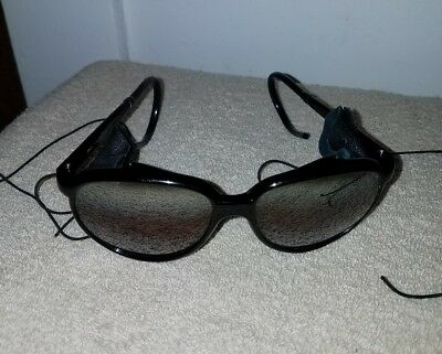 Vintage 80's Rei Of France Glacier Ski Mountaineer Sunglasses. Cable Temples.