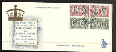 S.rhodesia, 1947 Royal Visit Issue On Illustrated Fdc, Dated 01.04.47