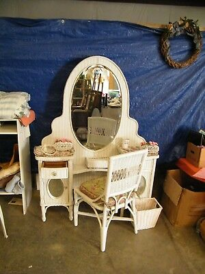 Henry Link 6 pc Wicker Dressing Table w Stool Lexington Furniture RARE FIND