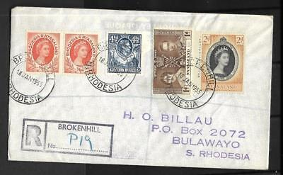 N.rhodesia, Qe11 1955 Cover To Bulawayo, 3 Territories Stamps On 1 Cover