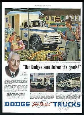 1952 New Orleans Blue Plate Food photo & art Dodge truck vintage print ad