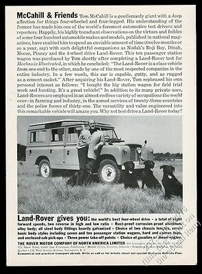 1962 Land-Rover SUV black lab Labrador Retriever Tom McCahill photo print ad