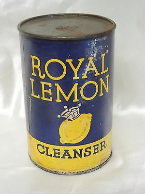 Rare Vintage Royal Lemon Cleanser Container Unopened Old Stock