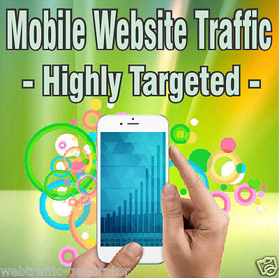 1,000 Real Visitors! HIGHLY TARGETED MOBILE TRAFFIC! iOS and/or Android