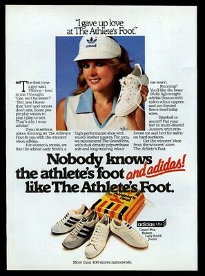 1982 Adidas shoes 4 styles photo Athlete's Foot vintage print ad