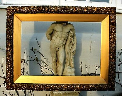 Imposing Large Late C19th Victorian Highly Ornate Rococo Gilt Gesso Frame