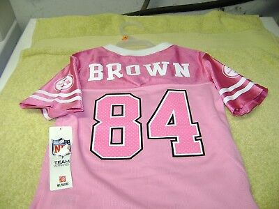newest 5f426 9b625 PITTSBURGH STEELERS NFL # 84 Antonio Brown Pink Jersey Size Girls 4T New  L@@K