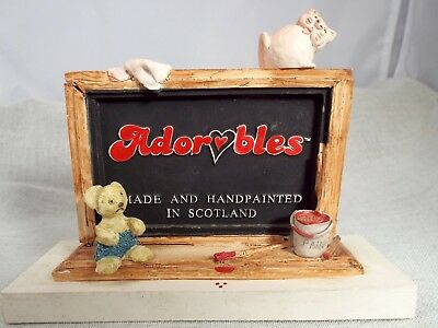 Adorables Advertising Plaque Hand Made & Painted In Scotland
