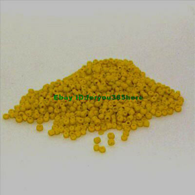 4000pcs 2mm Yellow glass seed beads Beautiful Color  jewelry design  finding