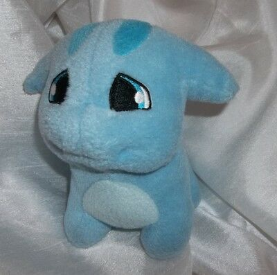 "Neopets Blue Poogle Dog Plushie About 5"" tall with tush tag"