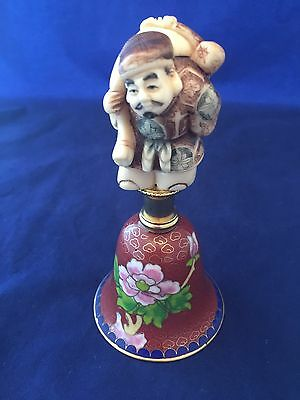 Netsuke Cloisonne Bell DAIKOKU god Of Wealth VTG 7 Good Fortune Hammond Museum