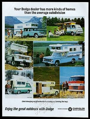 1966 Dodge Power Wagon 4WD camper special 4-door crew cab pickup truck photo ad