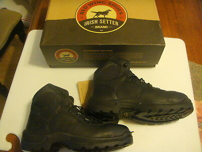 """Red Wing Shoe Irish Setter Steel Toe 6"""" Lace Up Work Boots 83612 Mens 7.5 E Wide"""