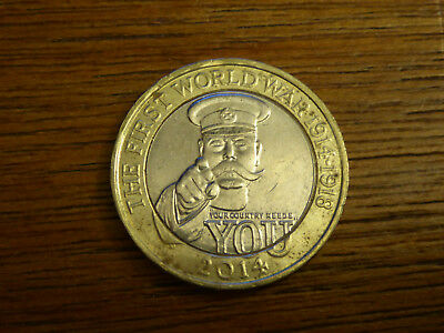 2014 United Kingdom 2 Two Pounds 100th Anniversary Outbreak First World War