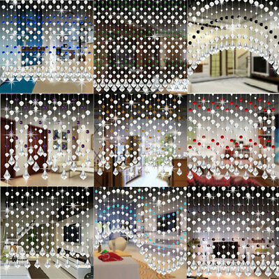 Crystal Glass Bead Curtain Luxury Living Room Bedroom Window Door Wedding Decor